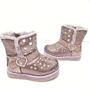 Twinkle Toes by Skechers Studded Shimmery Boots